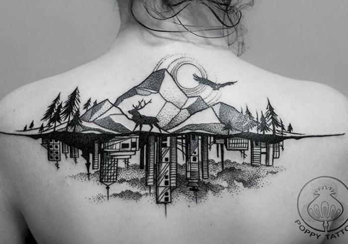 10 невероятных татуировок которым позавидуют архитекторы фото