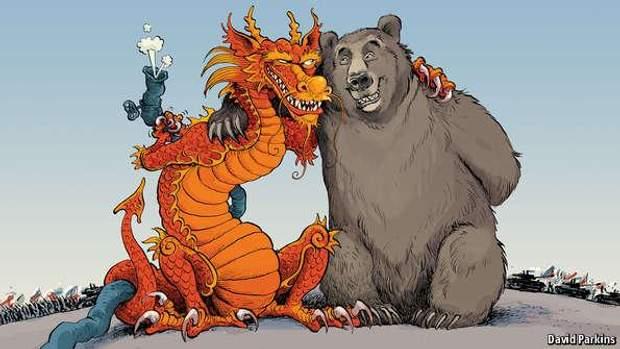 Непроста дружба Росії та Китаю. Ілюстрація Девіда Паркінса