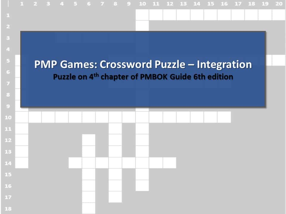 PMP Games Crossword Puzzle – Integration - 0