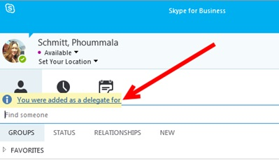 How to setup Skype for Business meeting Delegation without
