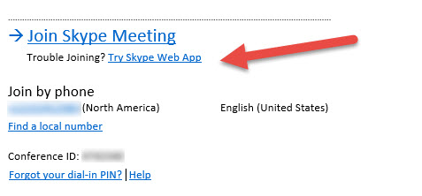 Unable to Join a Skype for Business Meeting? Use the Web app