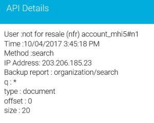 Storage Craft Cloud Backup Audit Log entry