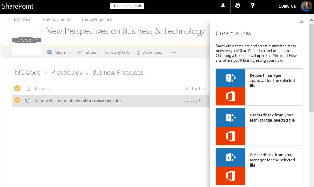 Go with the Microsoft Flow - Automation for your Cloud & on-prem