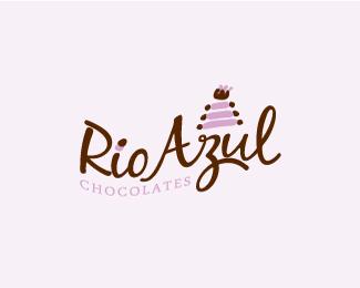 Rio Azul Chocolates 25 logos con mucho chocolate