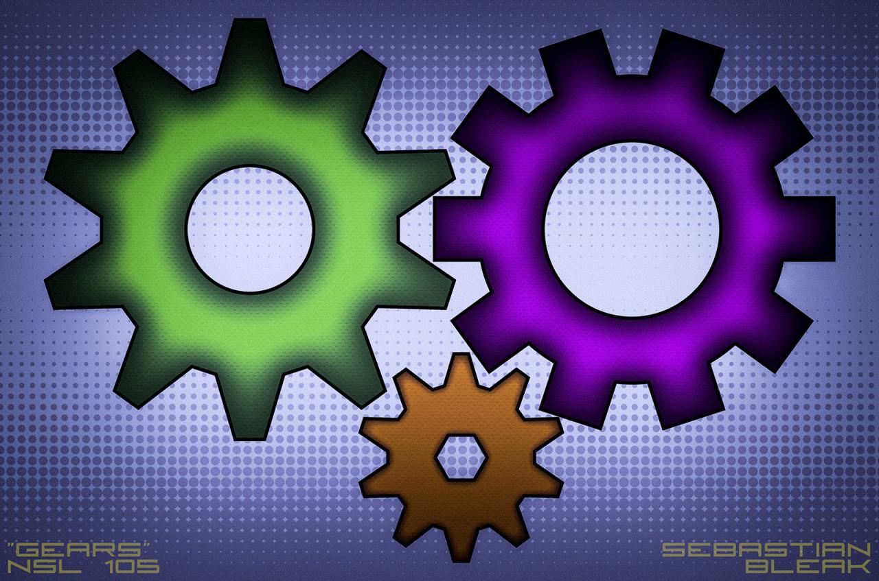Gears in Adobe Illustrator CC