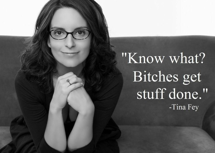 Absolutely love Tina Fey.