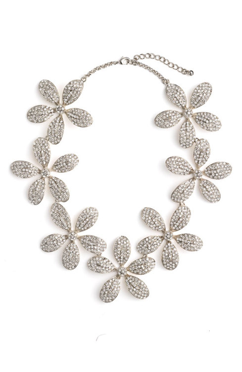 zsazsasitlist:</p> <p>designer: TASHA<br /> see more here: PAVE' FLOWER STATEMENT NECKLACE<br />