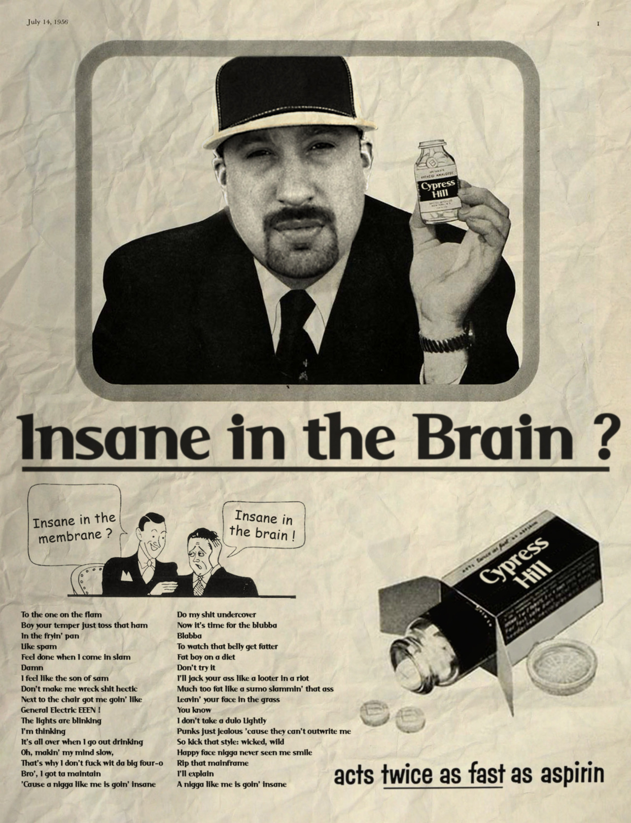 Insane in the brain / Cypress Hill  © Ads Libitum : facebook / tumblr / behance