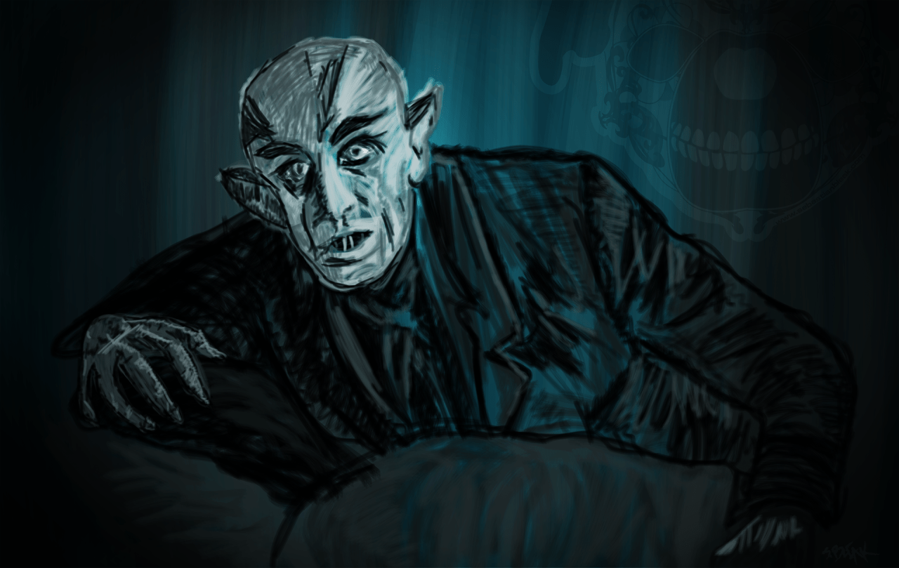 """Nosferatu"" drawing with Intuos tablet by Wacom with Dynamic Sketch"