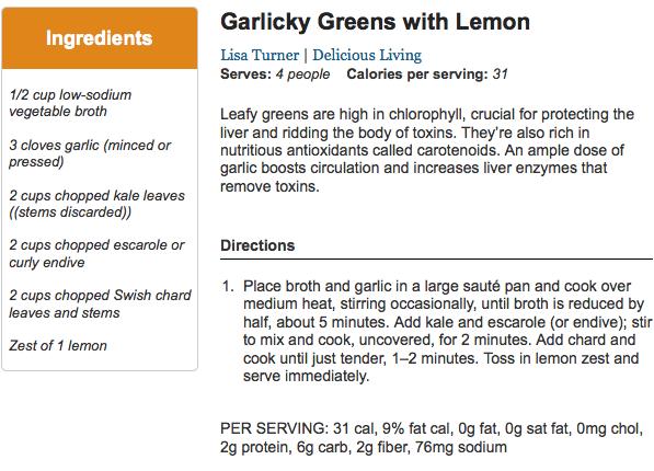 Galicky Greens with Lemon