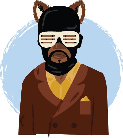 hatedxloving:  Kanye west (wes) Fantastic Mr. Fox by www.philhowelldesign.com