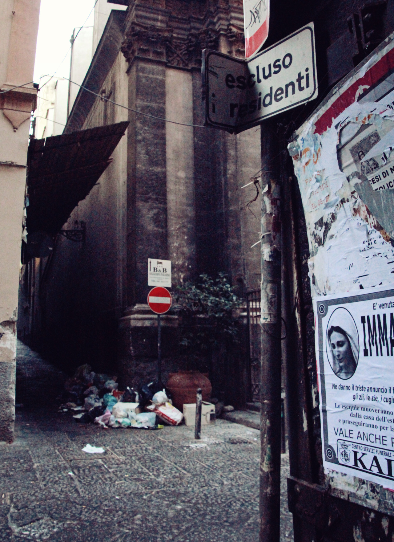 exclusively residential, the end of purgatory alley, naples, italy, 2012 (digital)