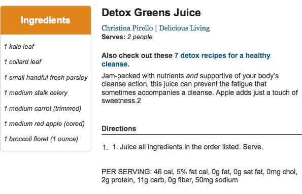 Detox Greens Juice