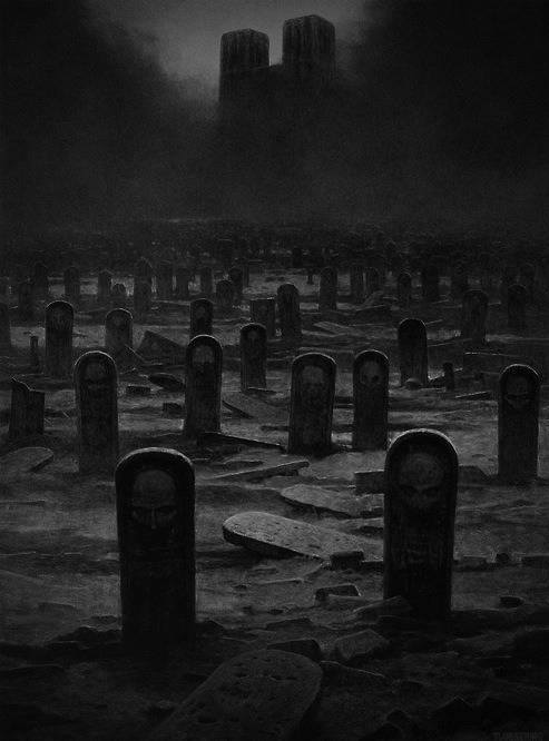 Why were the old tombstones<br /> replaced with these?<br /> Who are they?<br /> Will they be rising up?<br /> Sounds like a great story.<br /> There's a story behind every picture.