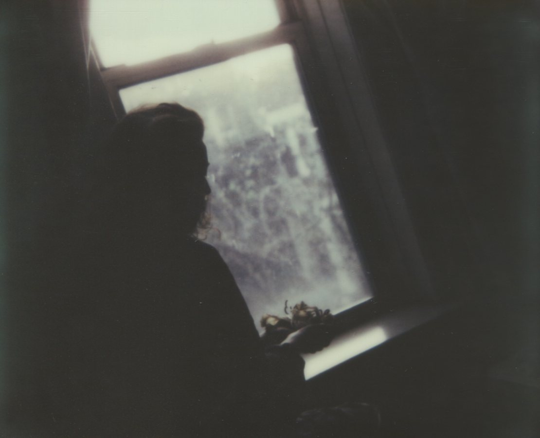 Mourning The Lilies, Silhouette Self PortraitThe IMPOSSIBLE Project, CP PZ680 Film© Anna Marcell