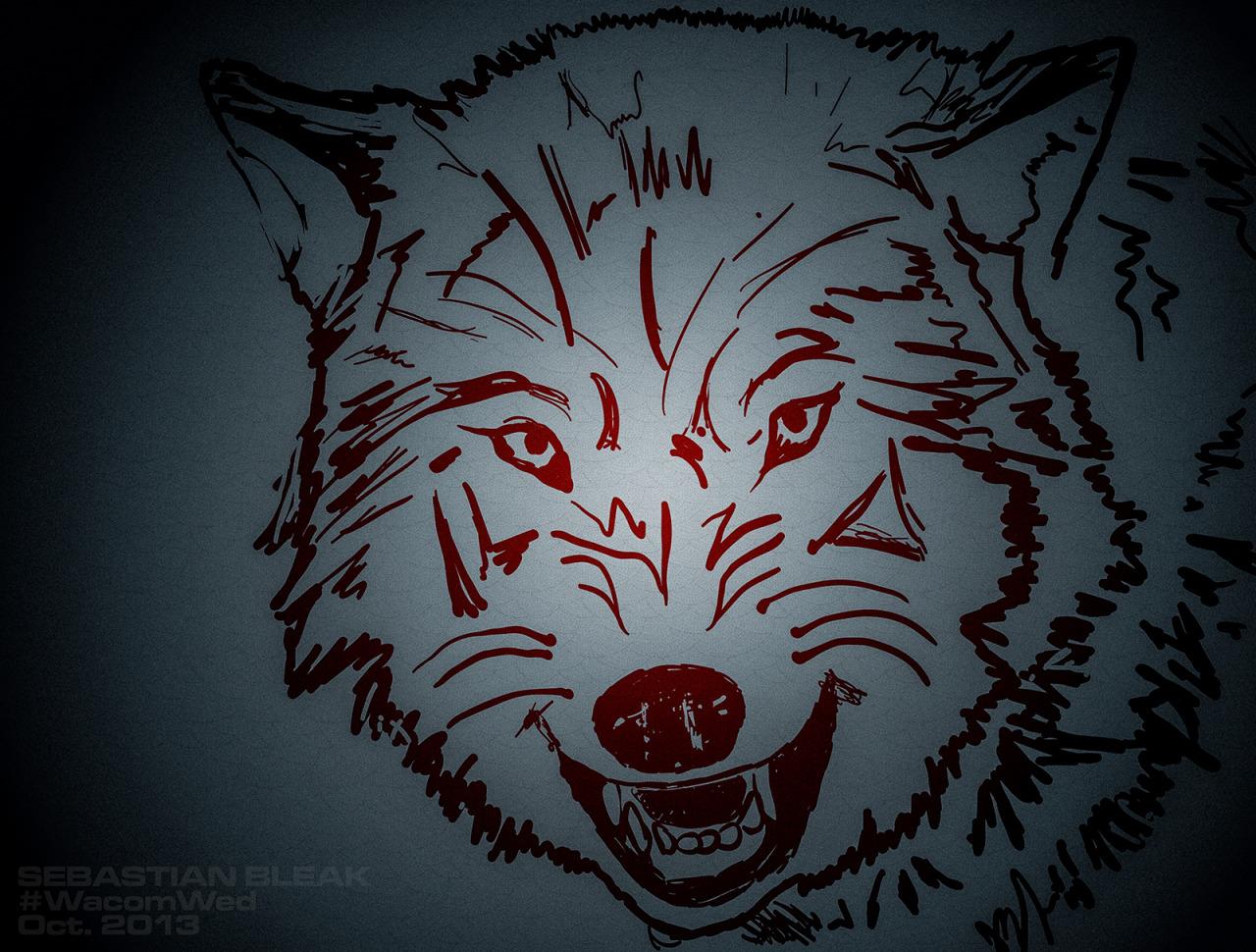 Wolf Sketch Blob Brush Adobe Illustrator CC