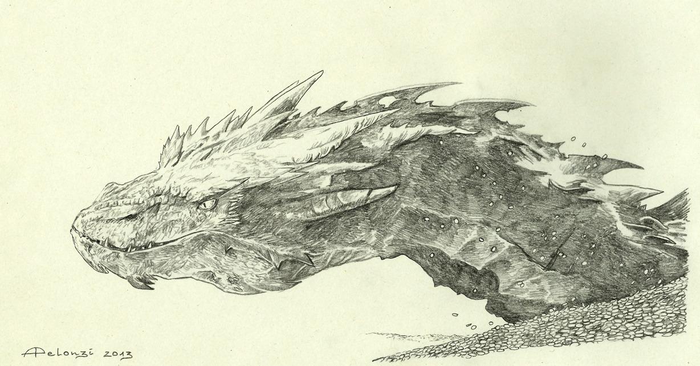 Dibujo de Smaug por Alessia Pelonzi