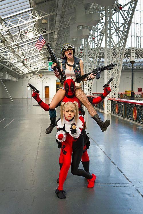 cosplay deadpool harleyquinn tank girl