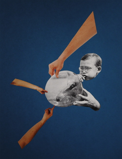 blow it up.original collage by bricolagelife 2013