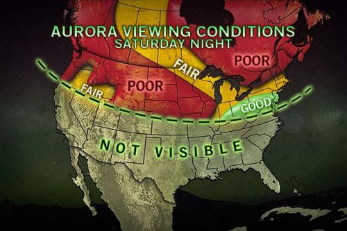 accuweather:   Dazzling Northern Lights Anticipated Saturday Night A solar flare that occurred around 2 a.m. Thursday morning may create a spectacular display of northern lights Saturday evening.    Excellent timing! Great weather expected overtop the great Coal Region of PA.. and Northern Lights will be a movin' South!