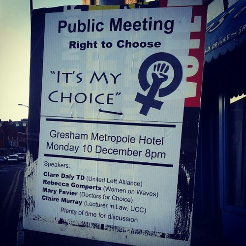 poster for Cork for Choice public meeting
