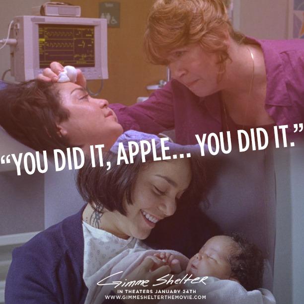 Kathy (Ann Dowd) praises Apple (Vanessa Hudgens) during her proudest moment… | See #GimmeShelter today: http://bit.ly/GimmeShelterTix