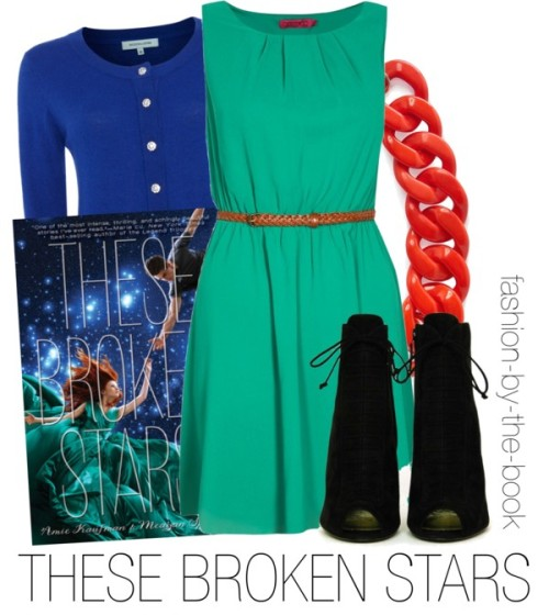 "These Broken Stars by Amie Kaufman and, Meagan Spooner Find it here ""And there it is, against all hope, like the sun peeking out from behind the clouds. The smallest hint of a smile."""