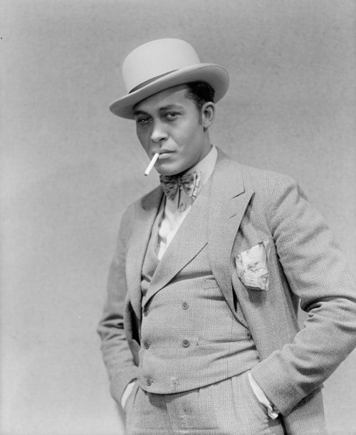 "Percy Verwayne (1895-1968) was the original Sportin' Life in the 1927 Broadway DuBose and Dorothy Heyward play, ""Porgy,"" the precursor to the iconic 1935 George Gershwin opera ""Porgy and Bess."" Mr. Verwayne was born in British Guiana (now Guyana) and appeared on Broadway, on radio and in several films for at least thirty years, but he was best known in his day for originating the role of Sportin' Life. He was also a former athlete and that came in handy in 1941 when he was robbed of 75 cents by a very unwise 18-year-old within two blocks of his Harlem home at 400 West 128th street. The incident was gleefully reported in the New York Amsterdam News on August 9, 1941 under the headline, ""Mugger Gets Wrong Victim."" According to the paper, when the mugger tried to run away, ""Verwayne chased him for a block, grabbed him by the seat of his trousers and socked him into submission. When the cops arrived, Verwayne was in complete control of the situation."" I'll bet he was… haha! Photo: New York Public Library, Billy Rose Theater Collection."