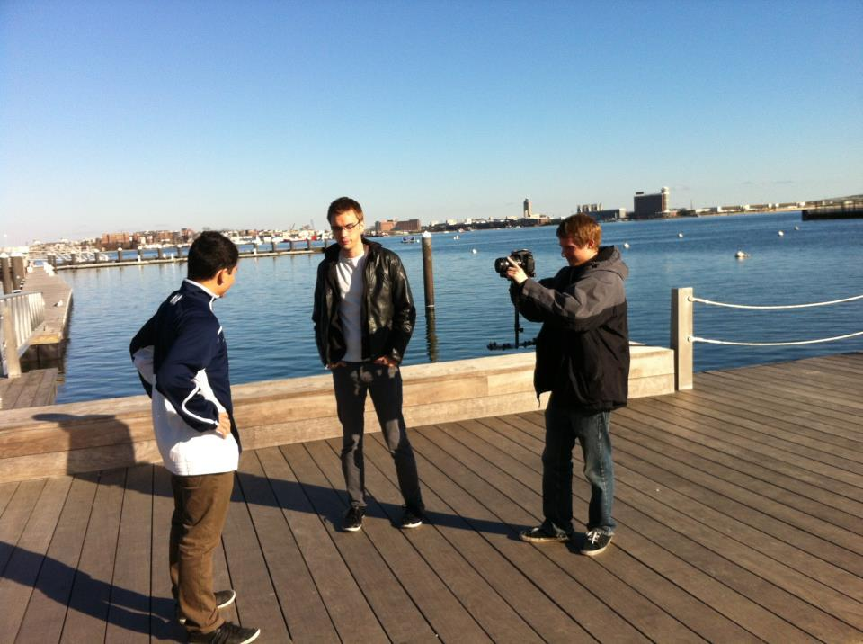 Behind the scenes: David being filmed for our new campaign video by Apolis Media.