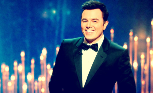 Seth MacFarlane looking devlish.