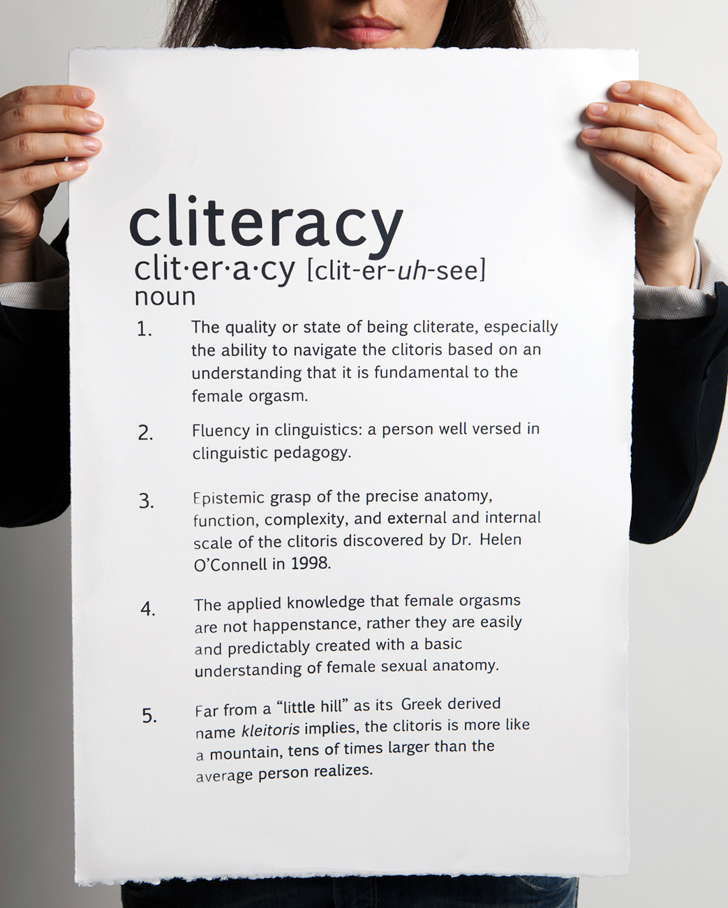 Cliteracy Eye Chart
