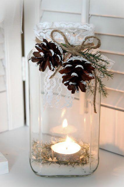 piñas velas decoración bodas