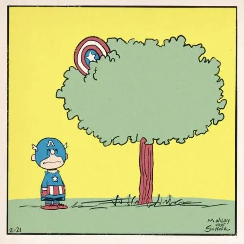 charlie brown vs captain america