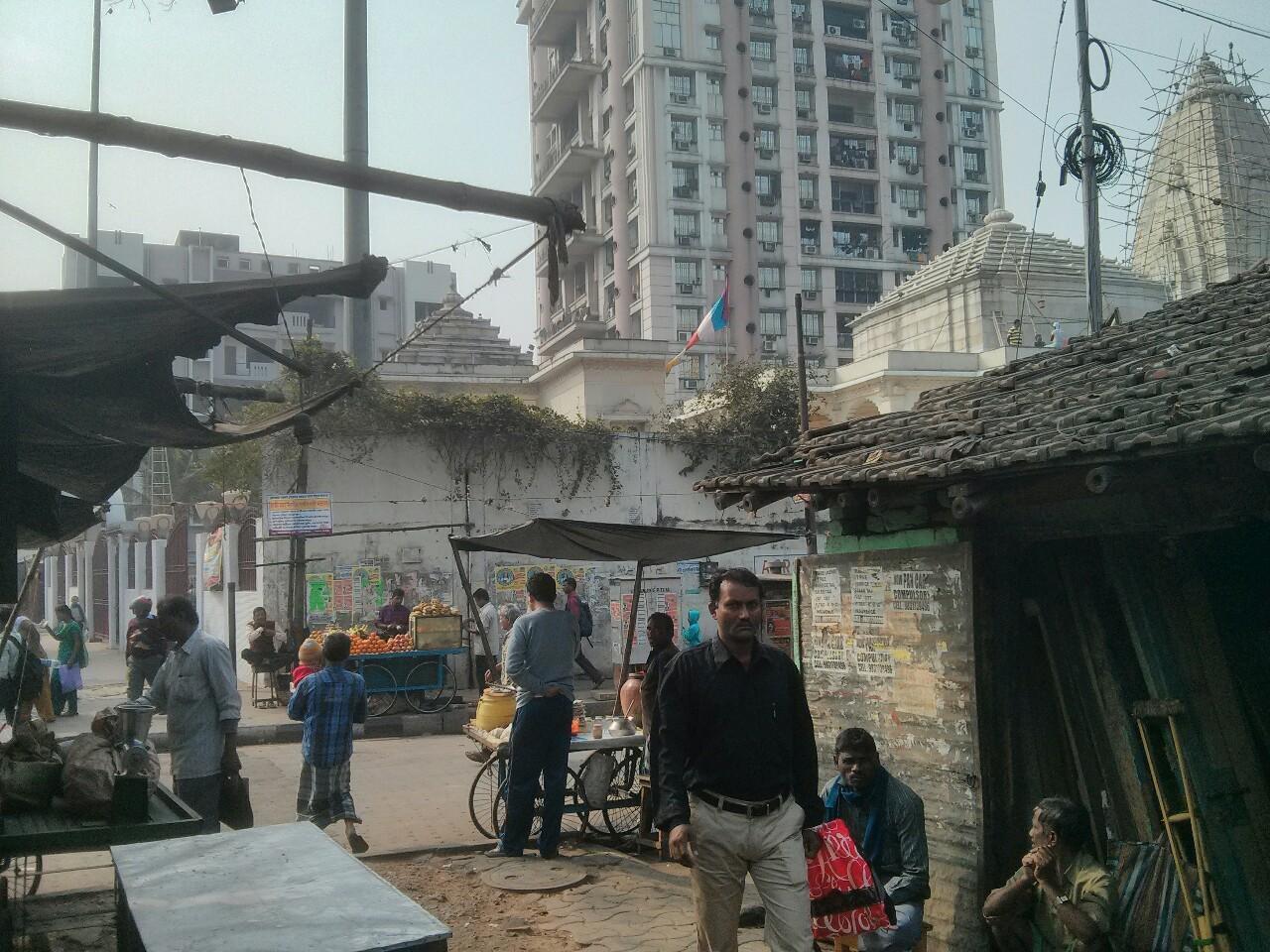 Outside the Kolkata temple