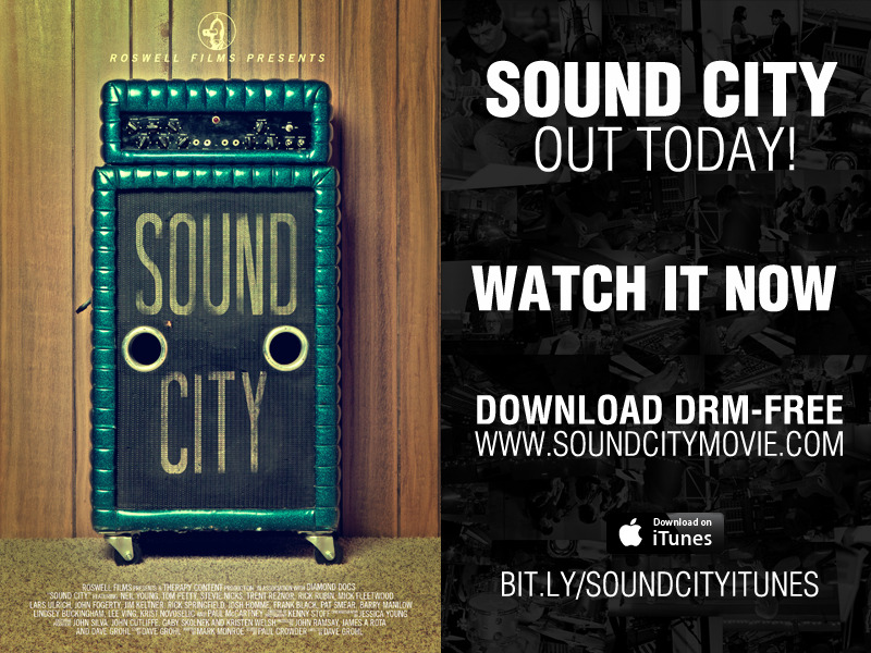 Have you seen it yet? Watch it RIGHT NOW athttp://www.soundcitymovie.com/Get it on iTunes athttp://bit.ly/SoundCityiTunesDo it for Rock and Roll