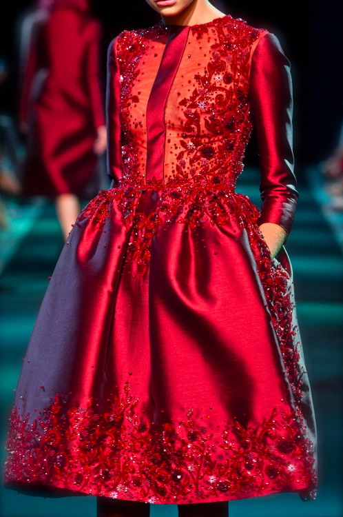 chiffonandribbons:</p> <p>Georges Hobeika Couture F/W 2013<br />