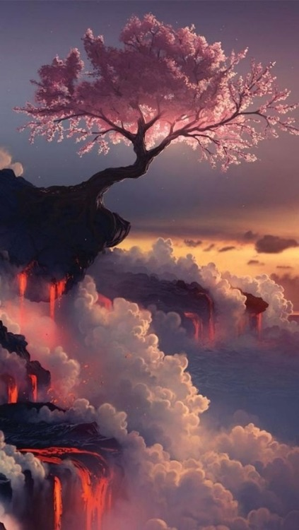 kitslam:</p> <p>Cherry blossoms. Fuji Volcano, Japan.</p> <p>TO BE ALONE<br /> Can being alone ever feel good?<br /> Standing strong and firms against the wind<br /> with no one protecting your back.<br /> Could this feel good?<br /> Looking out over the horizon and feel<br /> the salty wind in your face.<br /> Feeling good yet?<br /> Feeling stronger by the day without<br /> anyone's help.<br /> That is when it begins to feel good,<br /> when you begin to feel strong enough<br /> to stand on your own two feet without<br /> needing help from anyone.<br /> Be strong!</p> <p>