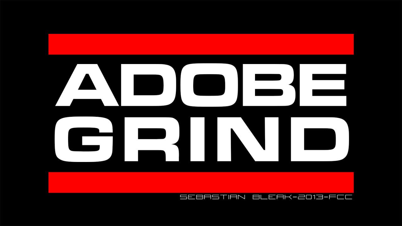 Adobe Grind RUN DMC logo