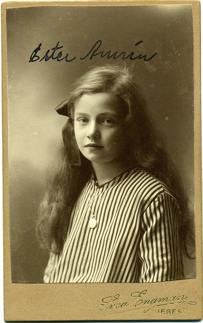 CDV Portrait of a young girl - Sweden - c.1915 by Patrick Bradley 70 on Flickr.