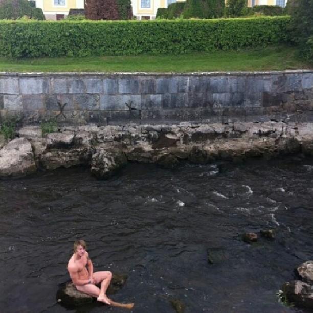 nude boy caught