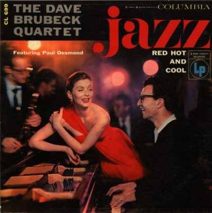 Jazz Hot Red and Cool record album cover by The Dave Brubaker Quartet