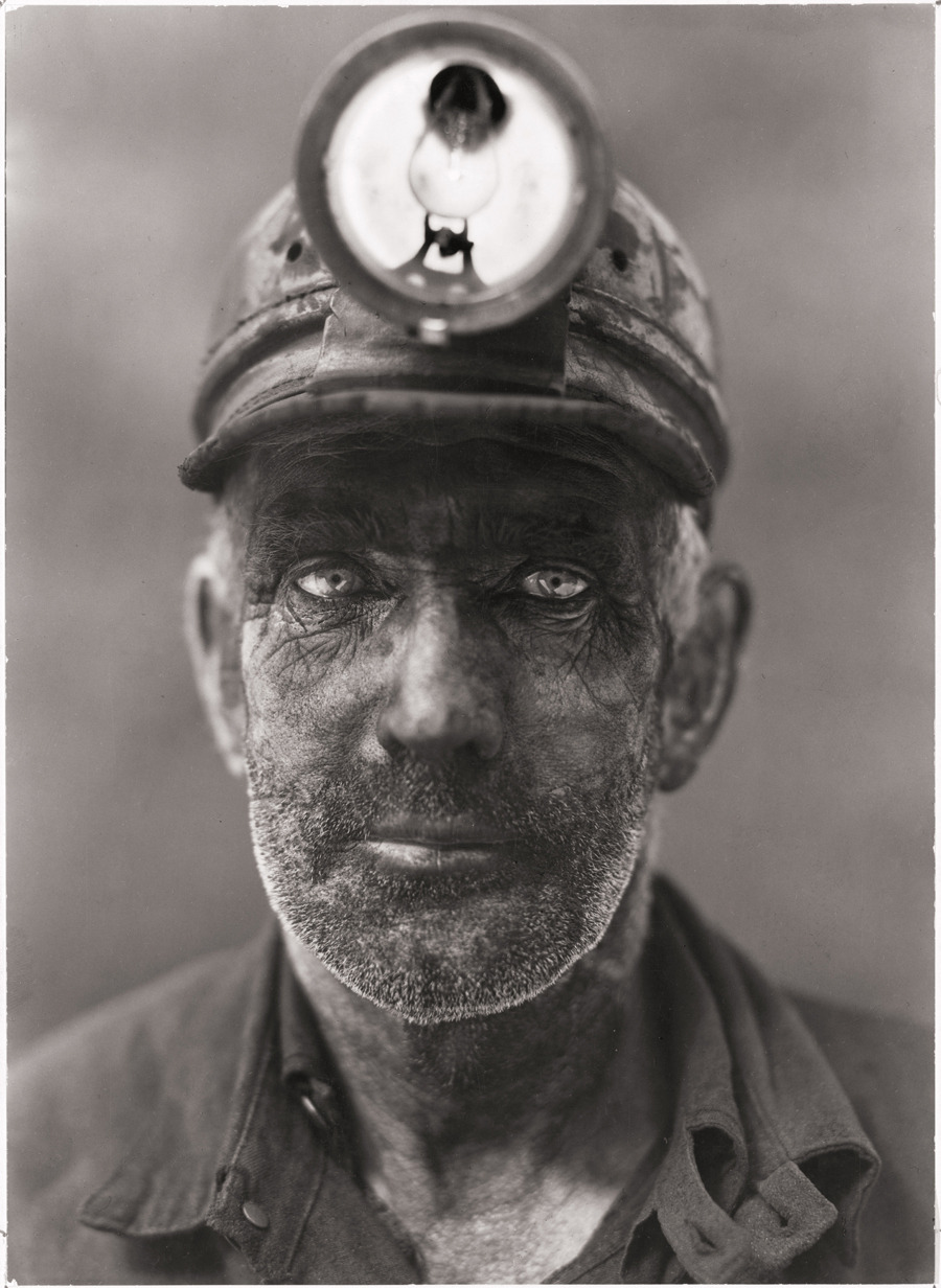A close-up portrait of a coal miner in Omar, West Virginia, 1938.Photograph by B. Anthony Stewart, National Geographic