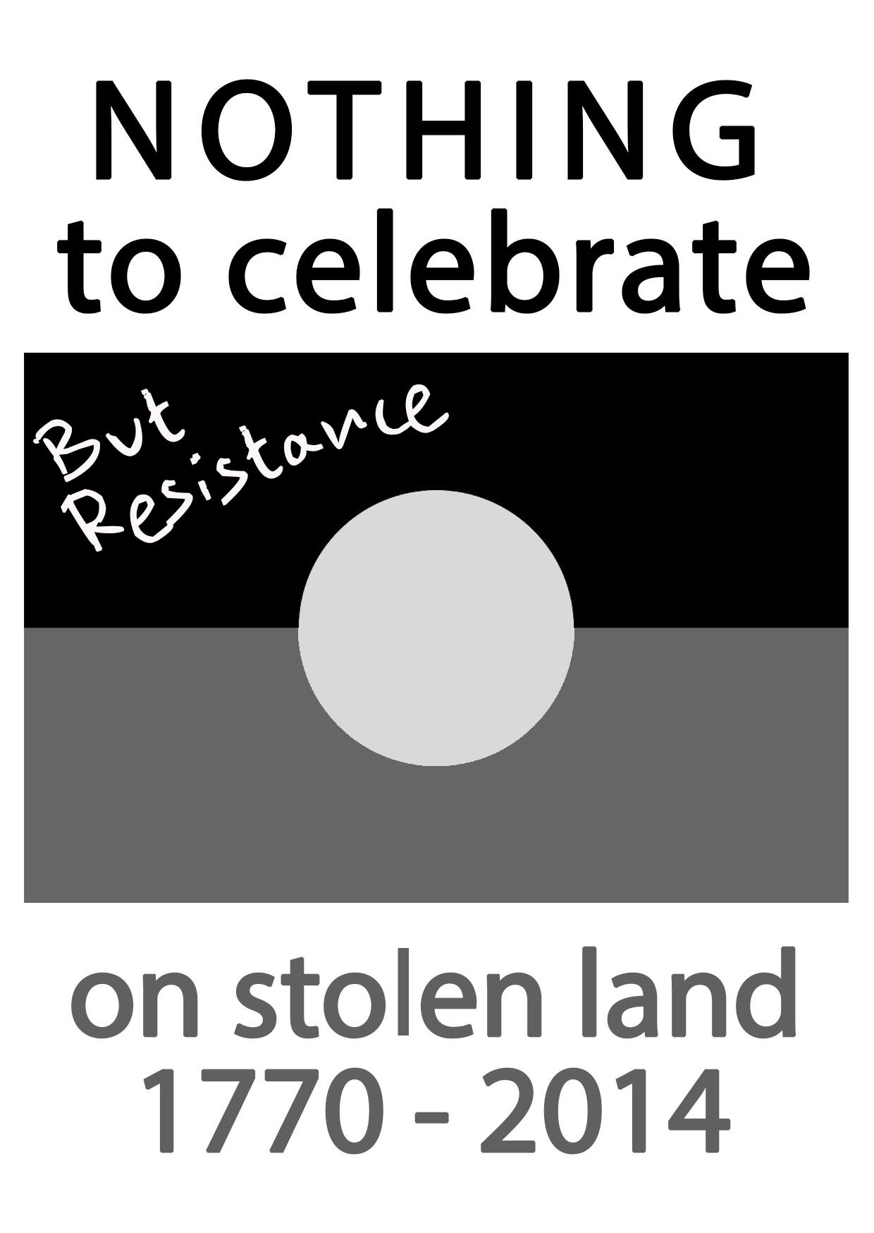 Nothing to celebrate but resistance on stolen land