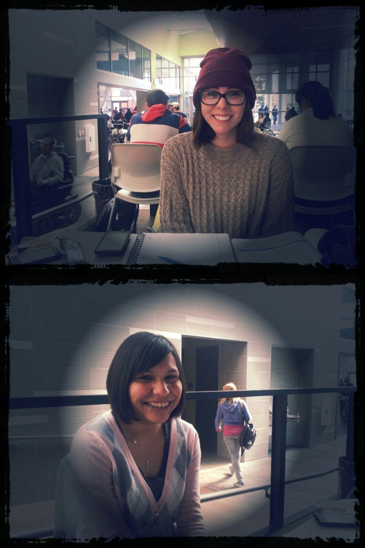 Becka and Mercedes graced my table on Monday with their awesomeness. We laughed about the impending zombie apocalypse.