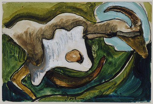 Goat, 1934; by Arthur Garfield Dove