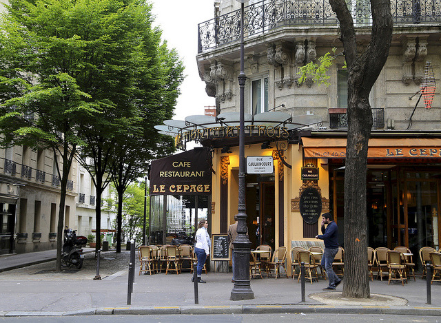 | ♕ |  Cafe Bistro Le Cepage, Paris  | by © peaflockster | via ysvoice