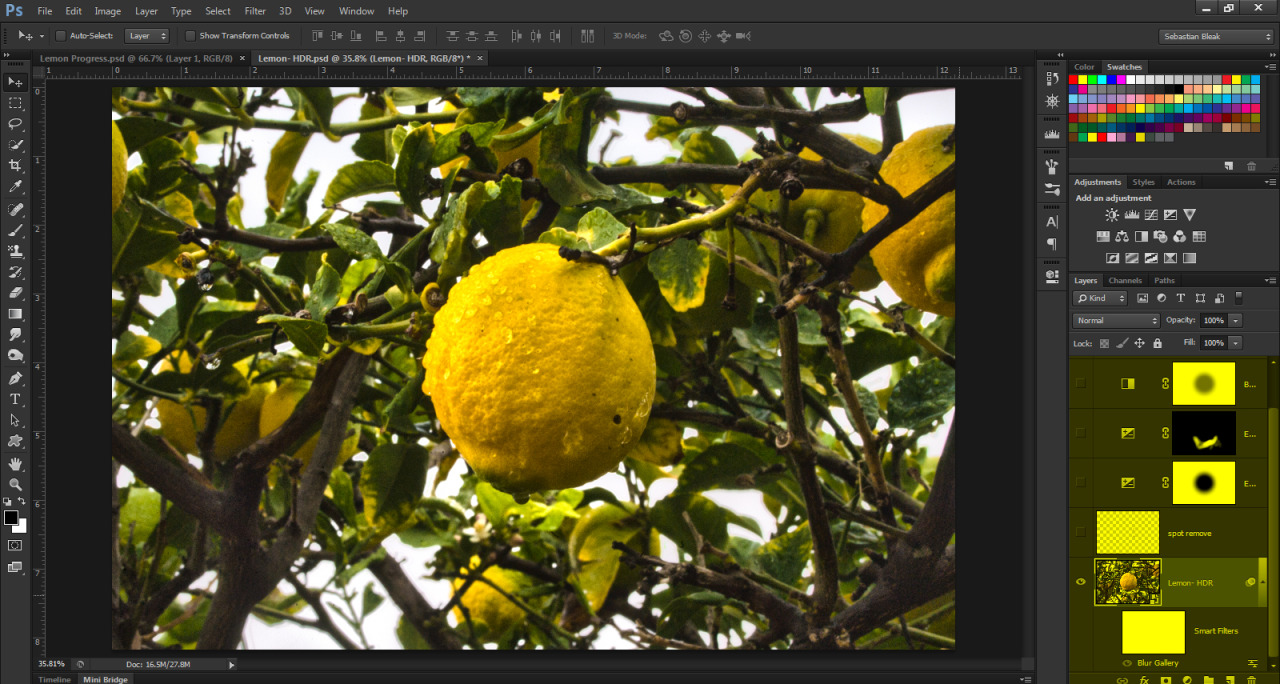 Photo in Photoshop