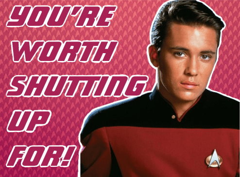 Geek Art Gallery Cards Star Trek Valentines