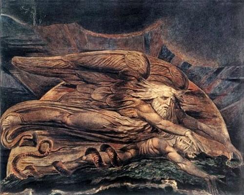 William Blake - Elohim Creando a Adán, 1795.