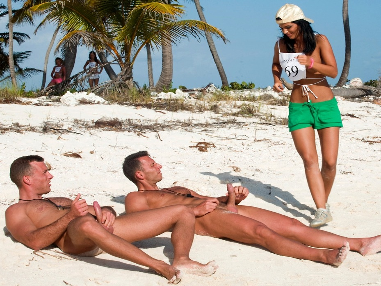 awkward boner nude beach